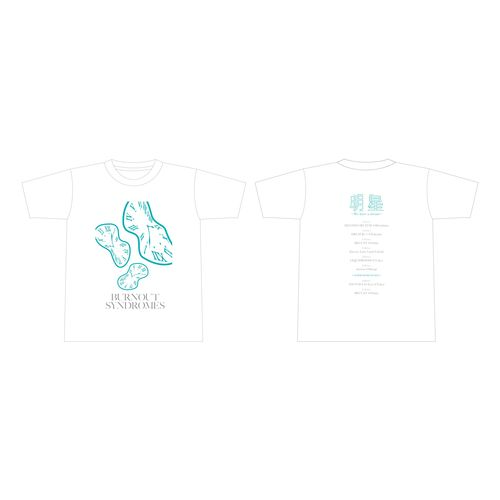 【BURNOUT SYNDROMES】明星ツアーTシャツ WHITE