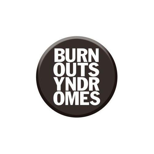 【BURNOUT SYNDROMES】ロゴ缶バッヂ BLACK×WHITE