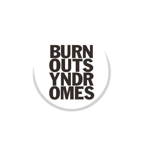 【BURNOUT SYNDROMES】ロゴ缶バッヂ WHITE×BLACK