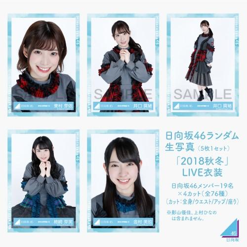 日向坂46 ランダム生写真(5枚1セット) 【2018秋冬LIVE衣装】