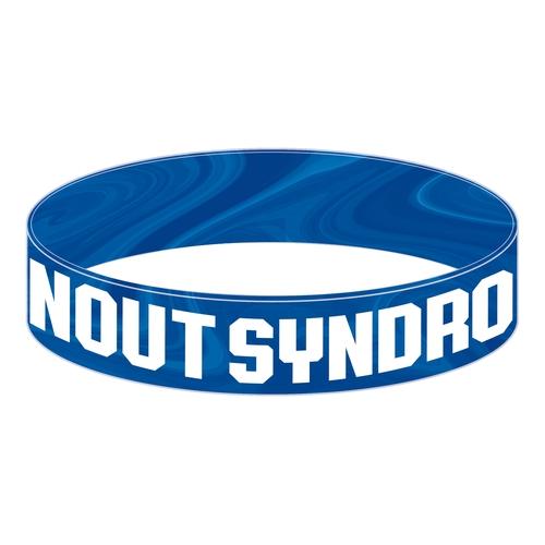 【BURNOUT SYNDROMES】2019 SUMMER LOGOラバーバンド BLUEマーブル