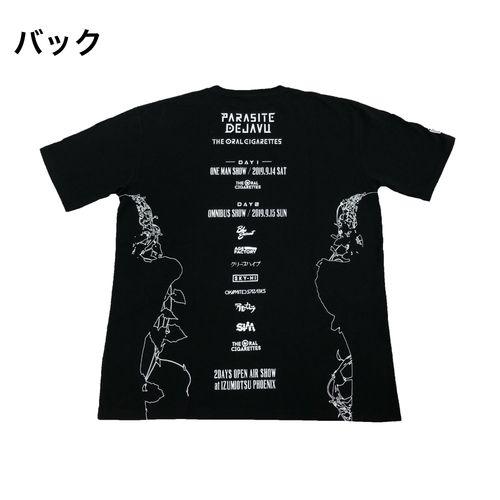 PARASITE DEJAVU OFFICIAL Tシャツ/ブラック