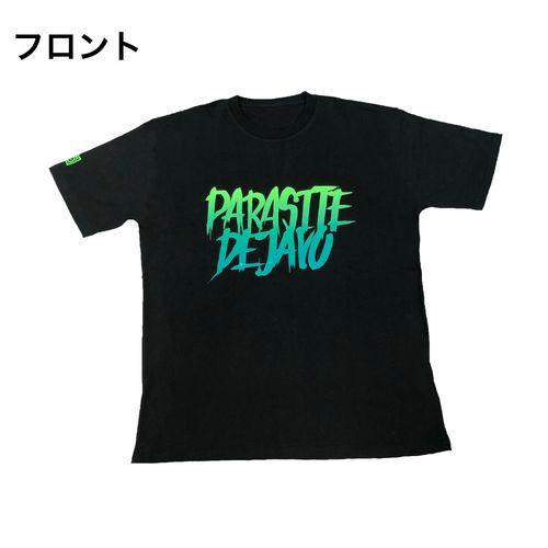 PD × OLI グラデーションTシャツ/ブラック