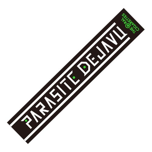 PARASITE DEJAVU OFFICIAL マフラータオル/ブラック
