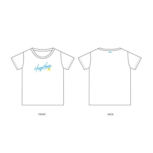 「HAPPY HAPPY」RELEASE EVENT Tシャツ/ホワイト【KIDS】