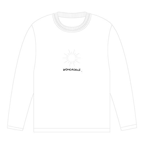 【WOMCADOLE】古澤デザイン blind ロンT(白)