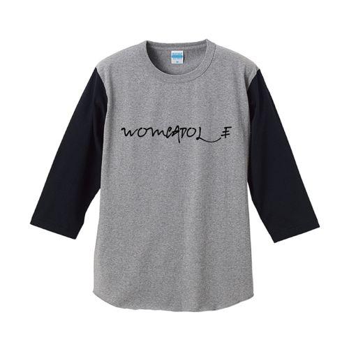 【WOMCADOLE】ロゴ別ラグラン(グレー)