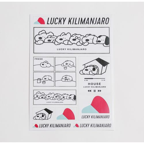 【Lucky Kilimanjaro】犬 シールセット
