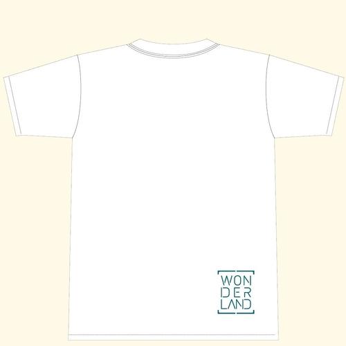 【アルバムリリース記念GOODS】「WONDERLAND」T-SHIRT/ホワイト