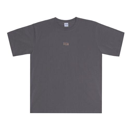 バックシルエットTシャツ/チャコール