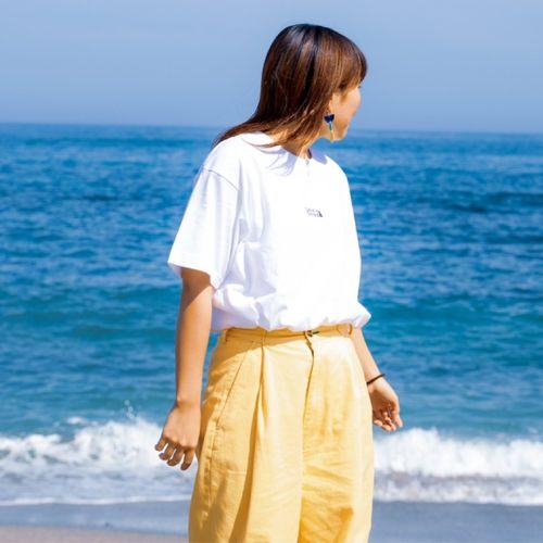 バックシルエットTシャツ/ホワイト