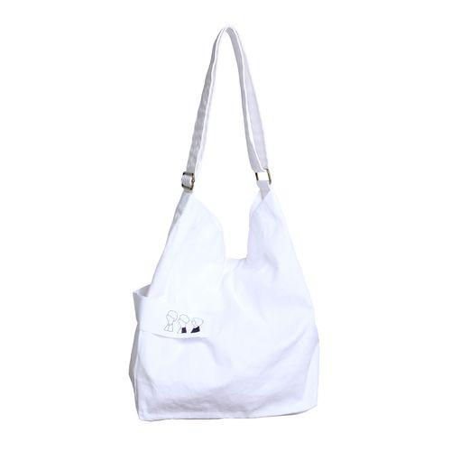 ショルダートートバッグ/ホワイト