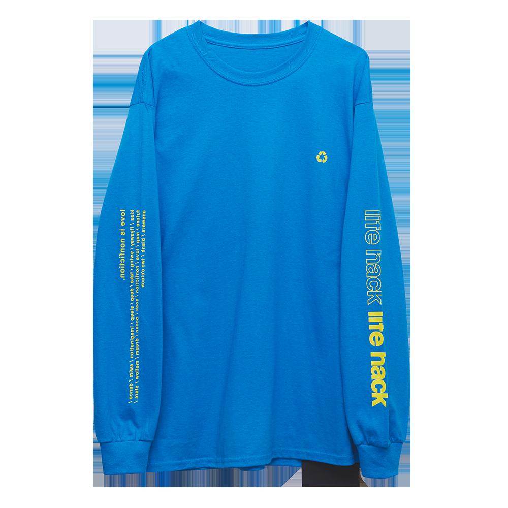 Long Sleeve T-Shirt・life hack [Sapphire]
