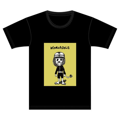 【WOMCADOLE】ヘルメット獅子男くんT(黒)