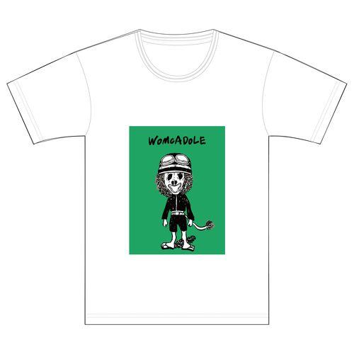 【WOMCADOLE】ヘルメット獅子男くんT(白)