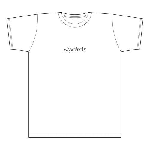 【WOMCADOLE】チビロゴ刺繍T(白)