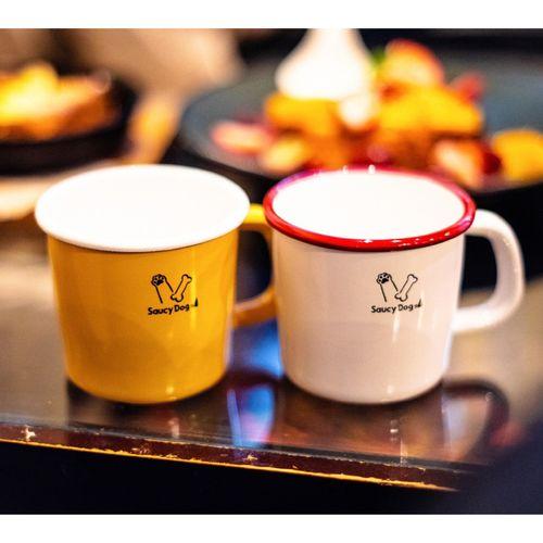 ホーローマグカップ/イエロー