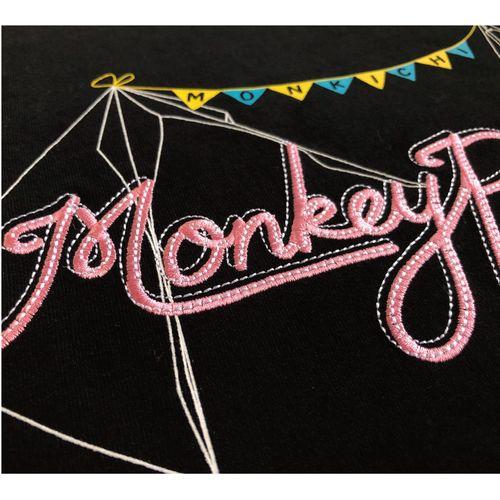 """【受注】Monkey Party オリジナル刺繍Tシャツ """"Summer '20 ver.""""-Monkey Camp会員様限定グッズ-"""