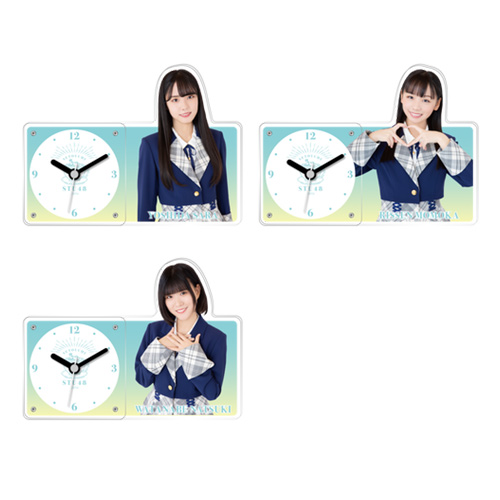 STU48 個別アクリル時計