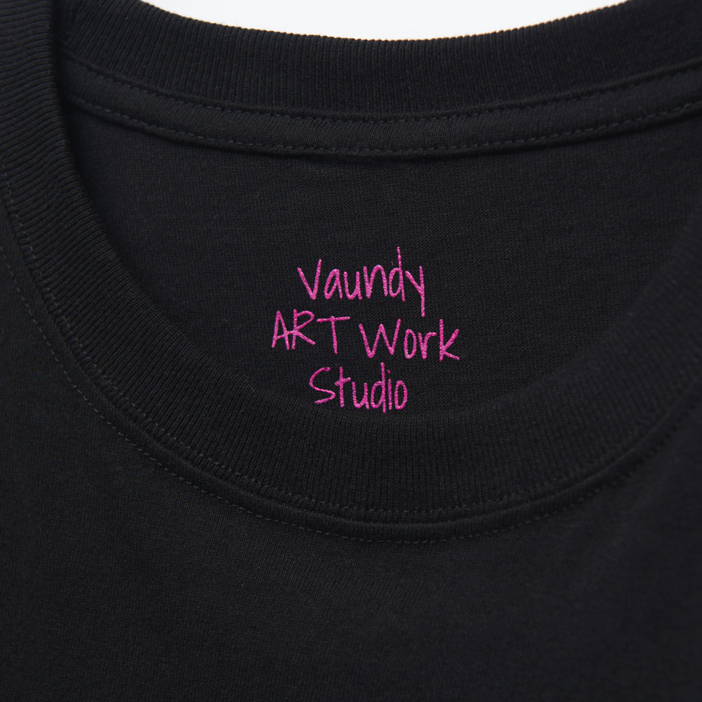 Logo T-Shirts Pink [Black]