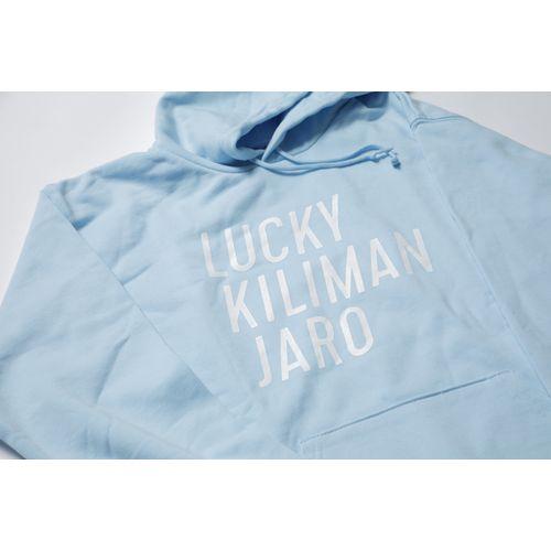 【Lucky Kilimanjaro】LK TYPOGRAPHY パーカー(ライトブルー)