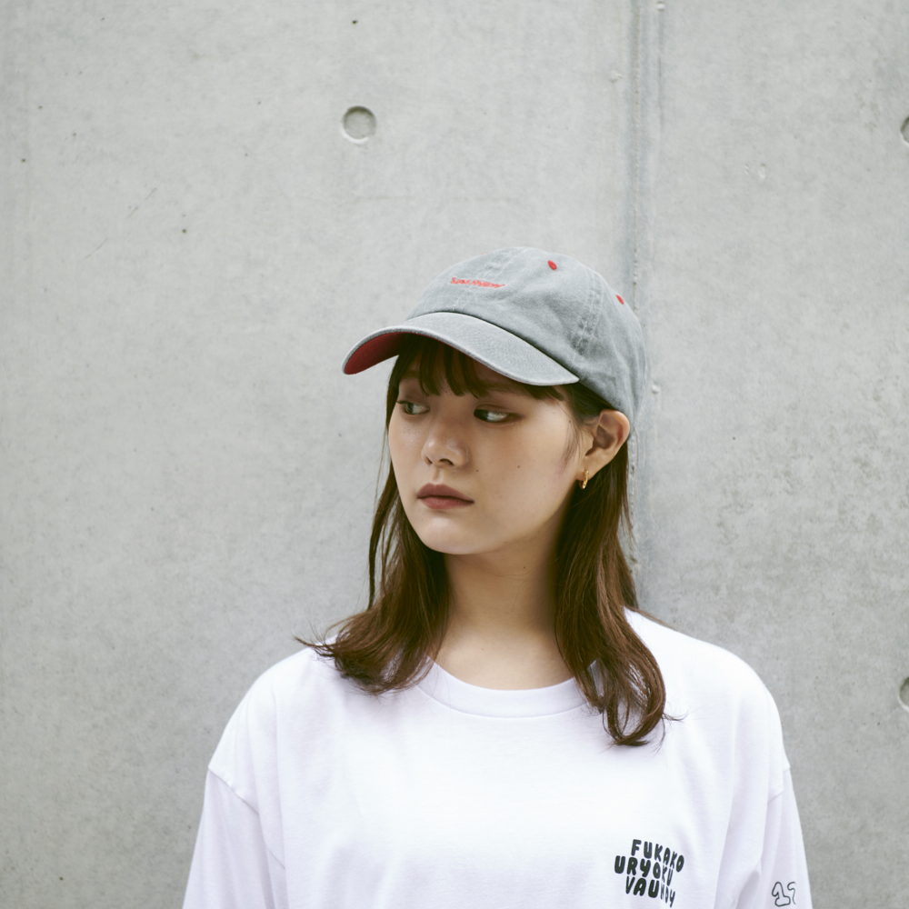 Cap [Gray×Red]