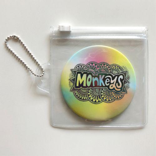 Monkeys コンパクト缶ミラー