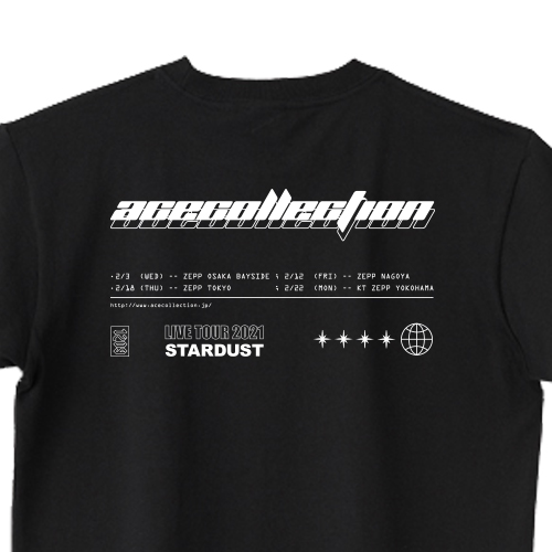 【STARDUST TOUR 限定】STARDUST TEE/ブラック