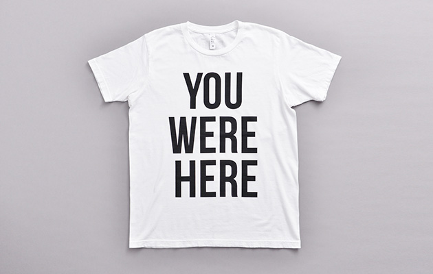 You were here Tシャツ