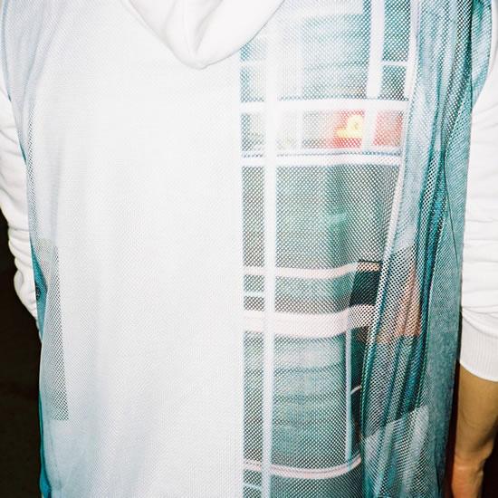 NF06 PHOTO MESH PARKA(white)