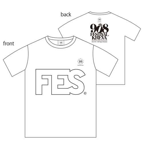 908FES 2014  FES T-Shirts [ホワイト]