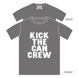 KICK THE WORLD BEAT Tシャツ[グレー]