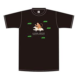 おサルとレンちゃんのおでかけTシャツ【ブラック】
