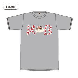 せっとリスのまかせな祭Tシャツ/グレー