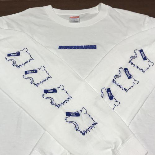 BOX LOGO BEAR ロングスリーブTシャツ/ホワイト