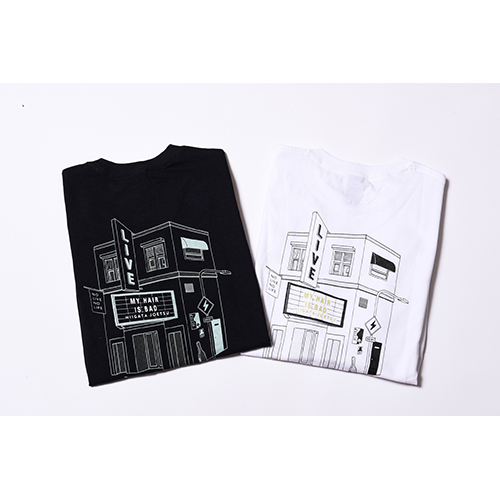 LIVE HOUSE Tシャツ / 黒