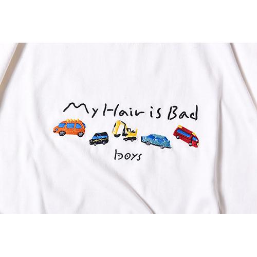 boys刺繍Tシャツ / サックス