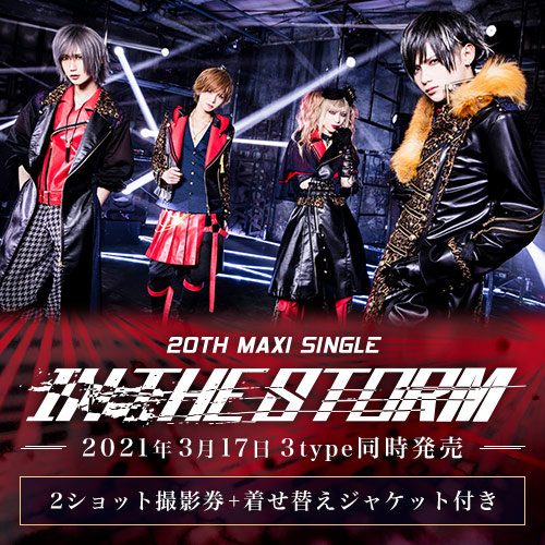 Royz 20th maxi single 「IN THE STORM」<2ショット撮影券+着せ替えジャケット付>A・B・Ctypeセット