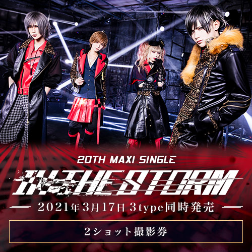 Royz 20th maxi single 「IN THE STORM」<2ショット撮影券>A・B・Ctypeセット