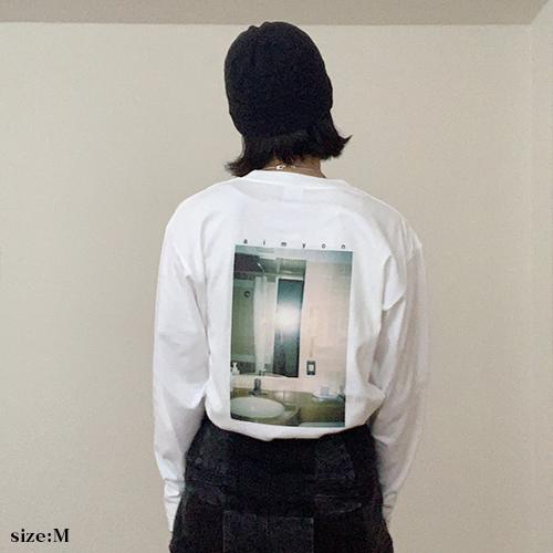 """""""愛を知るまでは""""ロングスリーブTシャツ/ホワイト 【AIMYON 弾き語り TOUR 2021""""傷と悪魔と恋をした!""""】"""