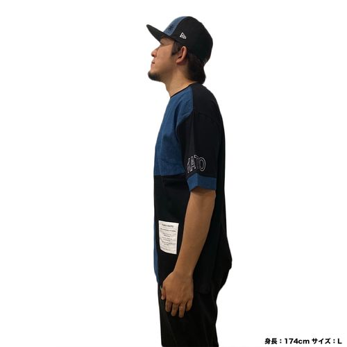 デニムブロック切り替えビックTシャツ