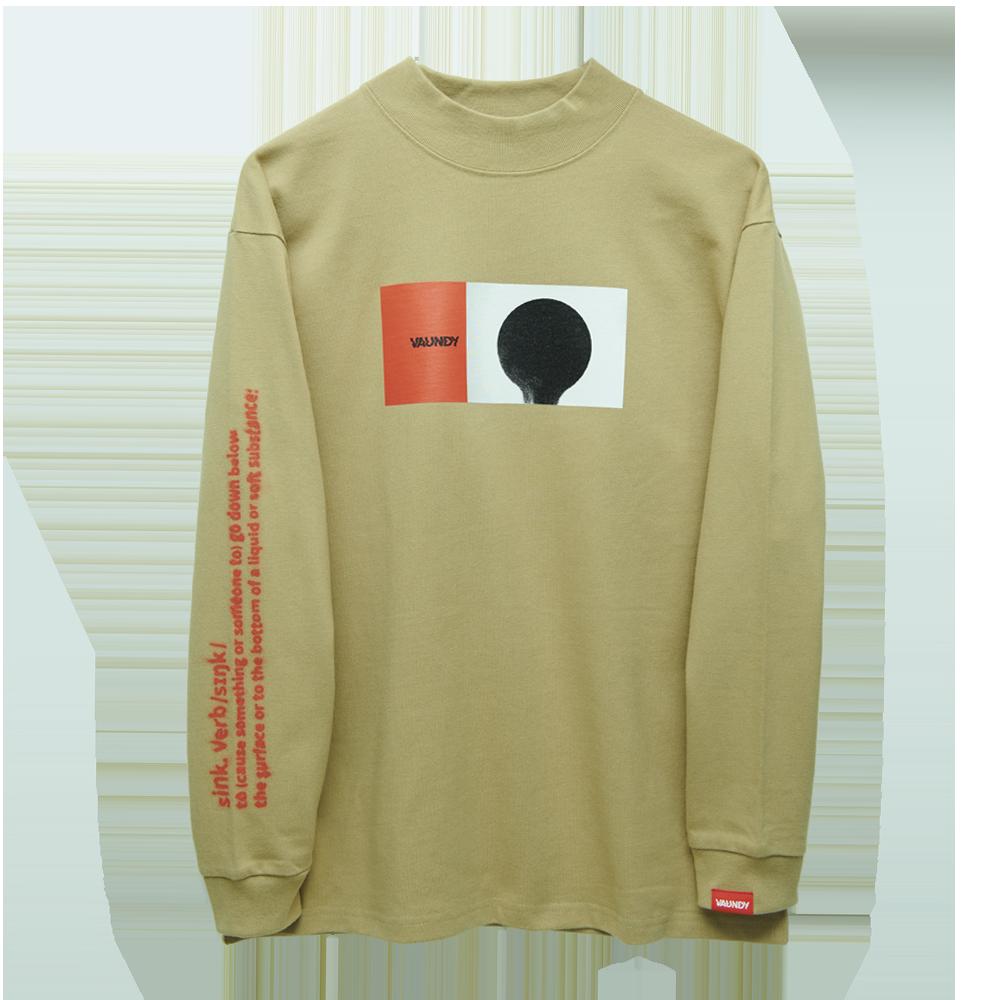 "Long Sleeve Light Sweatshirts""Sink""[Khaki]"