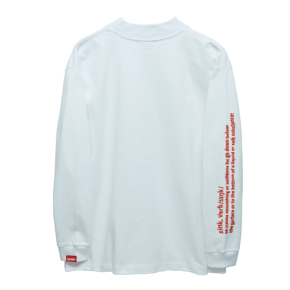 "Long Sleeve Light Sweatshirts""Sink""[White]"