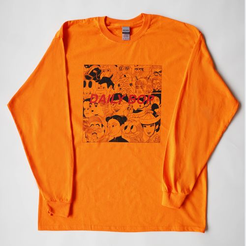 【Lucky Kilimanjaro】DAILY BOP ロンT オレンジ