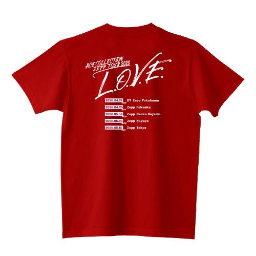 【ZEPP TOUR 限定】ツアーTシャツ/ワインレッド