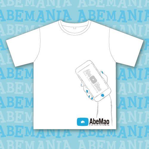 【阿部真央】FC Tシャツ(ホワイト×ブルー)