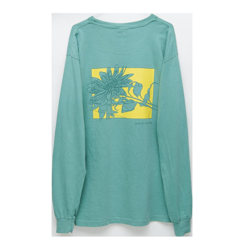 "Long Sleeve T-shirts""Hanauranai""[Green]"