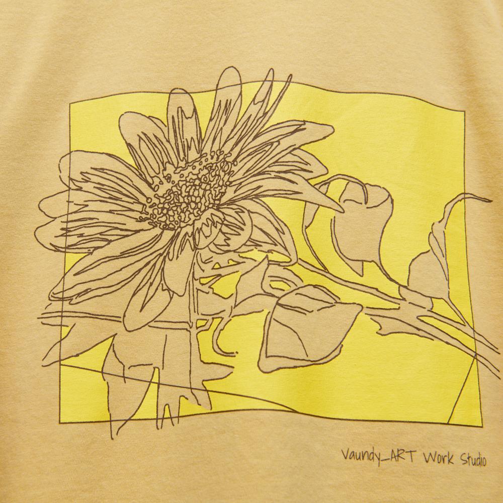 "Long Sleeve T-shirts""Hanauranai""[Mustard]"