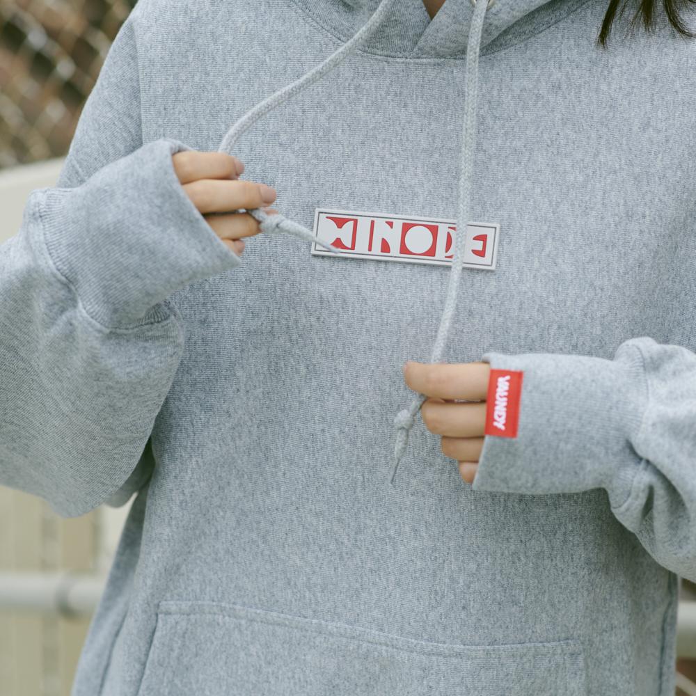 "Logo Hoodie ""HINODE""[Gray]"
