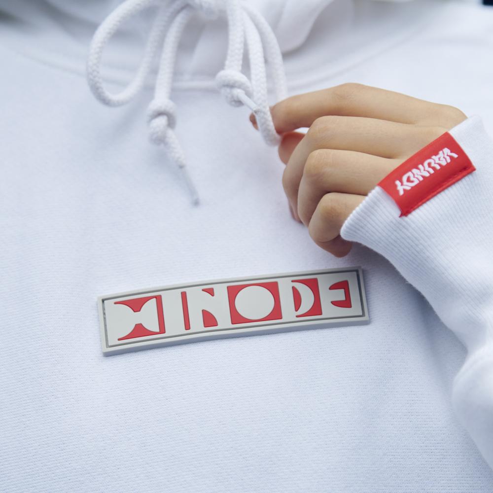 "Logo Hoodie ""HINODE""[White]"